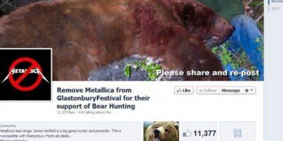 FOTOS. Metallica decepciona a sus fans por apoyar la caza de osos
