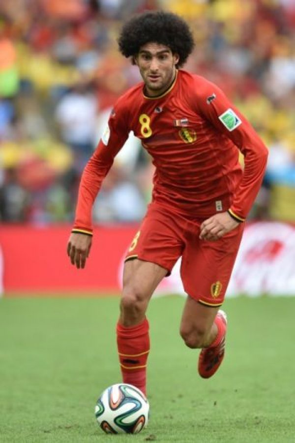 Marouane Fellaini (Bélgica). Foto:AFP
