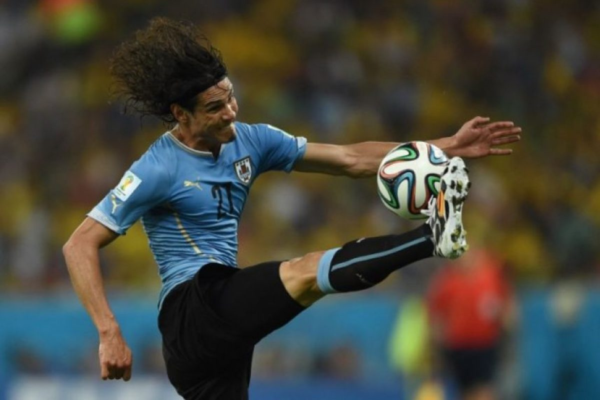 Edinson Cavani (Uruguay). Foto:AFP