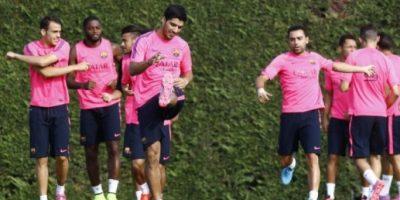 Suárez se entrena por primera vez con el FC Barcelona