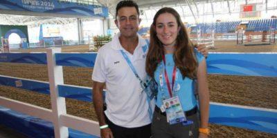 Stephanie Brand será la única exponente guatemalteca en el deporte de equitación. Foto:COG