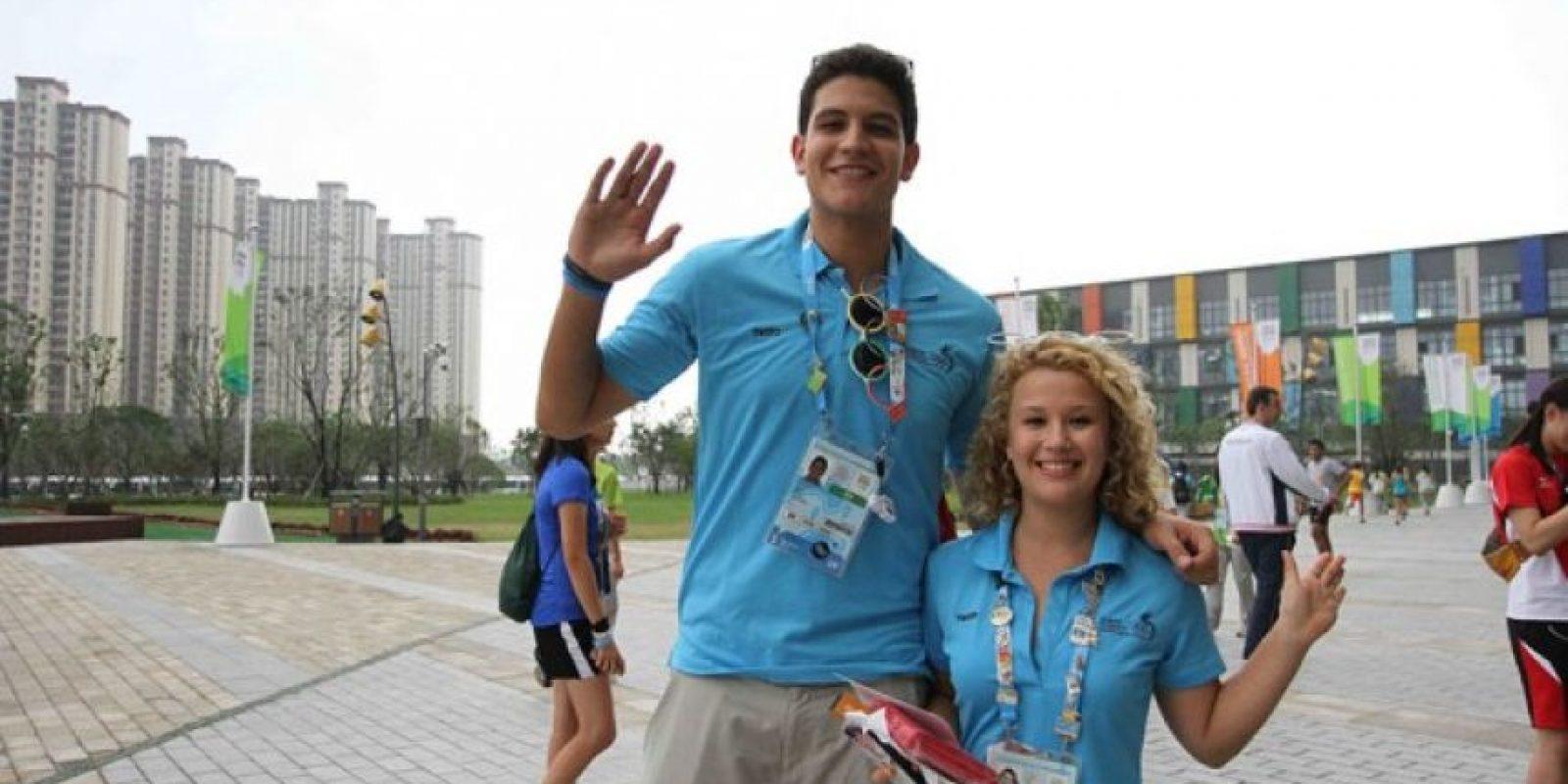 Juan Miguel Rosales, jugador de baloncesto 3×3, y Mary Burge, de ciclismo. Foto:COG