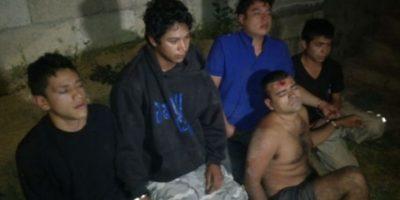 Capturan a cinco pandilleros con un arsenal en Villa Nueva