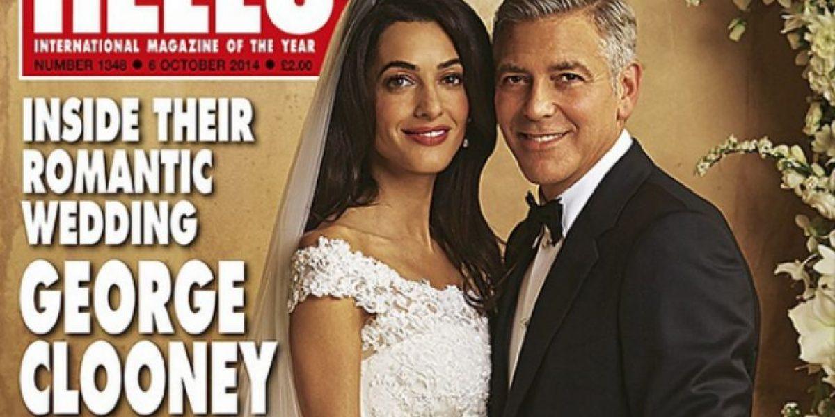 Revelan las primeras fotos de la boda de George Clooney