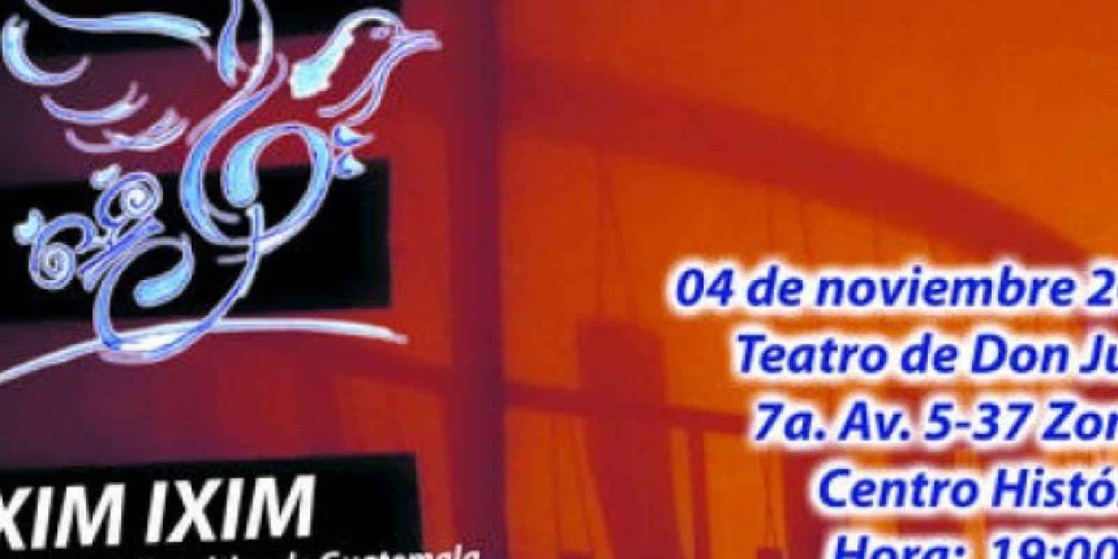 La Orquesta Sincrética de Guatemala se presentará el 4 de noviembre, a las 19 horas, en el Teatro de Don Juan. Admisión: Q150