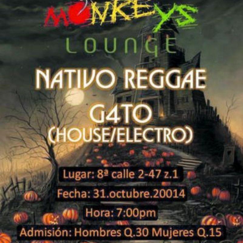 Fiesta y concierto en Monkeys Bar junto con Nativo Reggae y G4to DJ. Admisión: Q30