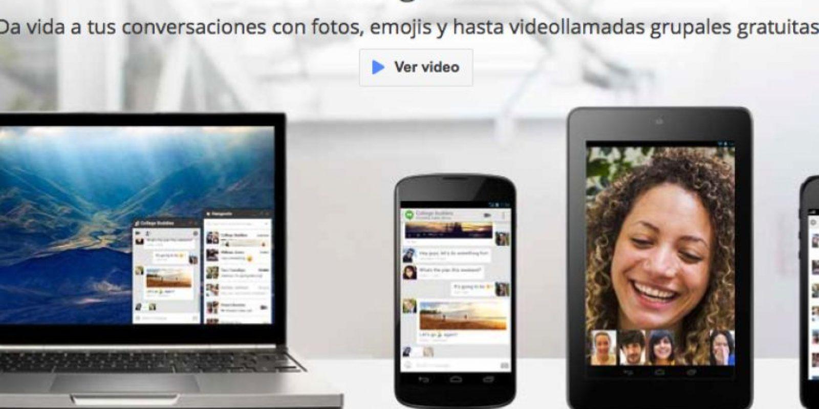 """""""Google Talk"""" cambió de nombre a """"Hangouts"""". Foto:Google"""