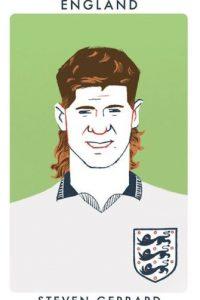 El inglés Steven Gerrard con un look ochentero. Foto:twitter.com/chrismoranART