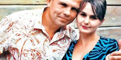 El caníbal con su esposa, Irina. Foto:Facebook