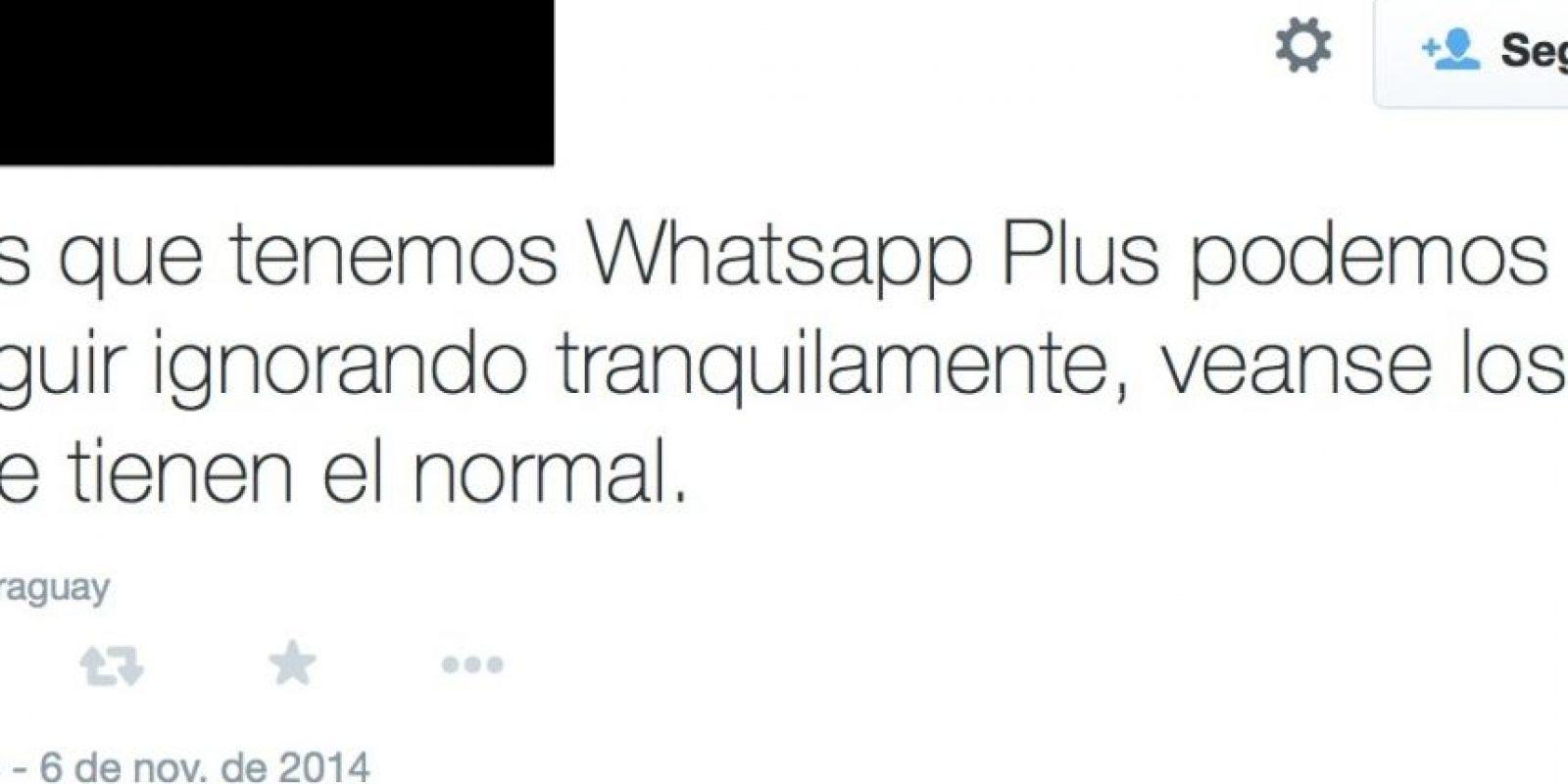 """""""Y yo que tengo la aplicación que no tienen los pobres, pff"""" Foto:Twitter"""
