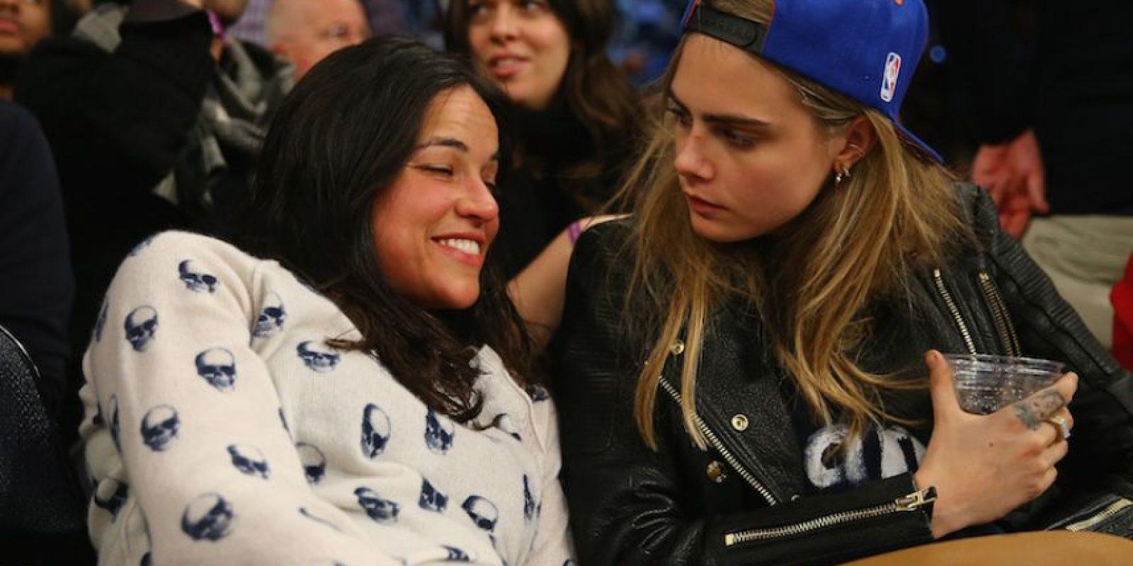 Entre estas, su única relación realmente confirmada es la que sostuvo con Michelle Rodríguez. Foto: Getty