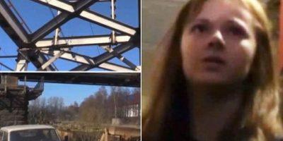 Xenia Ignatieva, adolescente rusa, se quería tomar un selfie en un puente de San Petersburgo, pero perdió el equilibrio y se sujetó a unos cables que la terminaron electrocutando. Foto:Vía Twitter