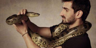 El hombre ha sido comparado con Steve Irwin, el cazador de cocodrilos Foto:Vía Twitter