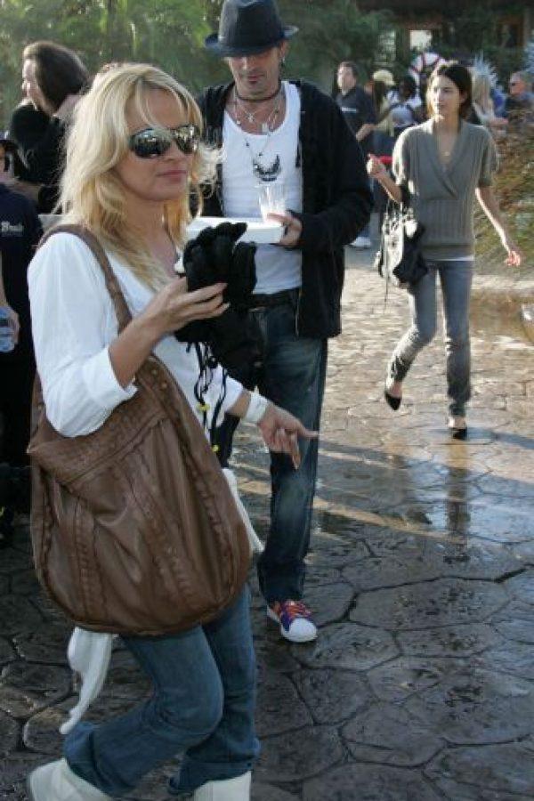 Pamela Anderson estaba embarazada cuando sufrió el abuso de su pareja Foto:Getty