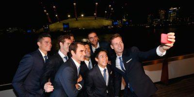 Así lucía el selfie de Berdych desde otro punto de vista. Foto:Getty Images