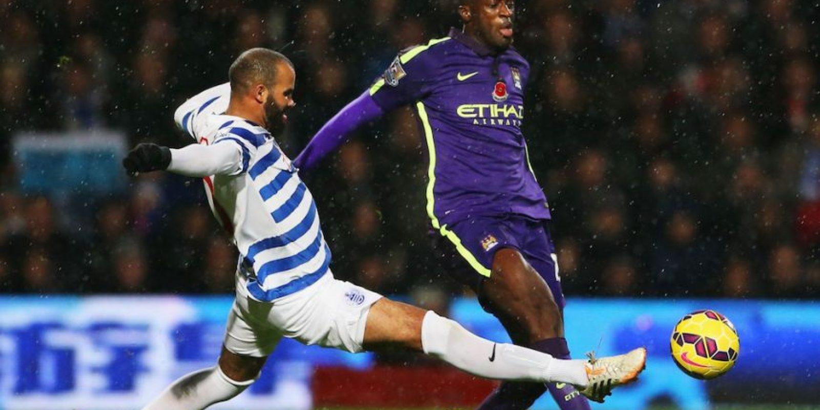 Yaya Touré pensará dos veces antes de pegarle con gran fuerza al balón. Foto:Getty Images