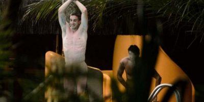 Jugadores de Croacia Durante el Mundial de Brasil 2014, fueron captados por paparazzis desnudos en su hotel de concentración. Foto:Bild