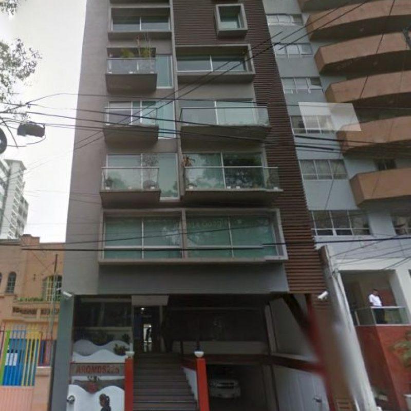 El edificio donde fue encontrado sin vida Hugo Sánchez Portugal. Foto:Google Maps