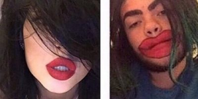 Hay quienes se burlan de su método inicial para agrandar sus labios Foto:Twitter