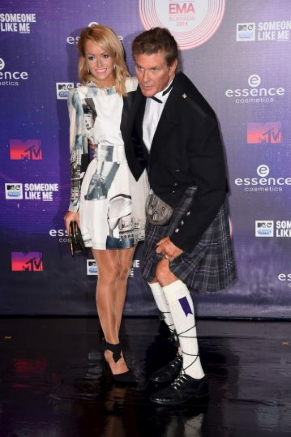 Hayley Roberts y David Hasselhoff Foto: Getty Images