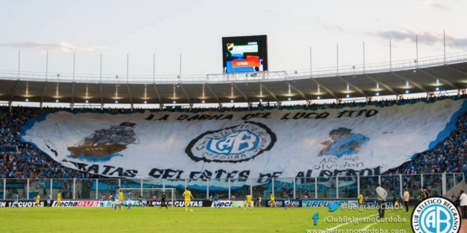 El aficionado habría caído tras el primer gol de Belgrano. Foto:facebook.com/ClubBelgranoCordoba