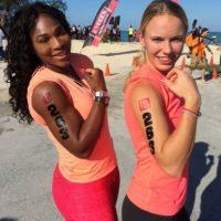 Williams y Wozniacki terminaron un triatlón. Foto:twitter.com/serenawilliams