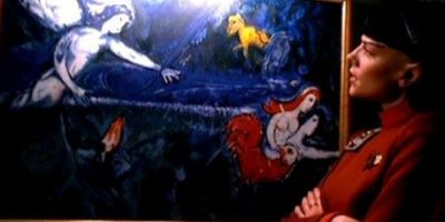 """Adam and Eve expelled from Paradise"" de Marc Chagall en Star Trek VI: The Undiscovered Country de 1991. Foto: Paramount Pictures"