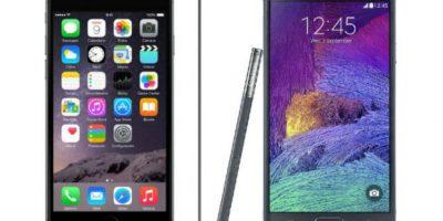iPhone 6 Plus y Samung Galaxy Note 4 quieren estar en sus bolsillos. Foto:Apple/Samsung