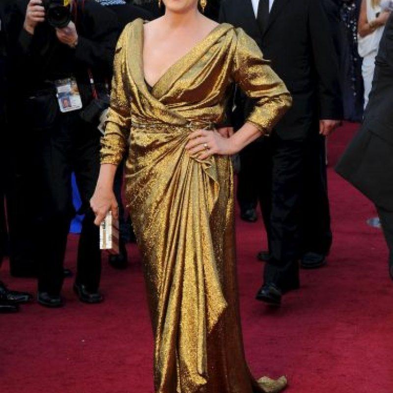 Meryl Streep es otra actriz que tiene dos Premios Oscar por sus transformaciones. Foto:Getty Images