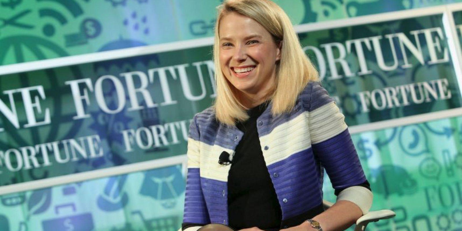 """Es la directora ejectiva de Yahoo. Una vez admitió a Vogue que era """"geek y tímida"""". Foto:Getty"""
