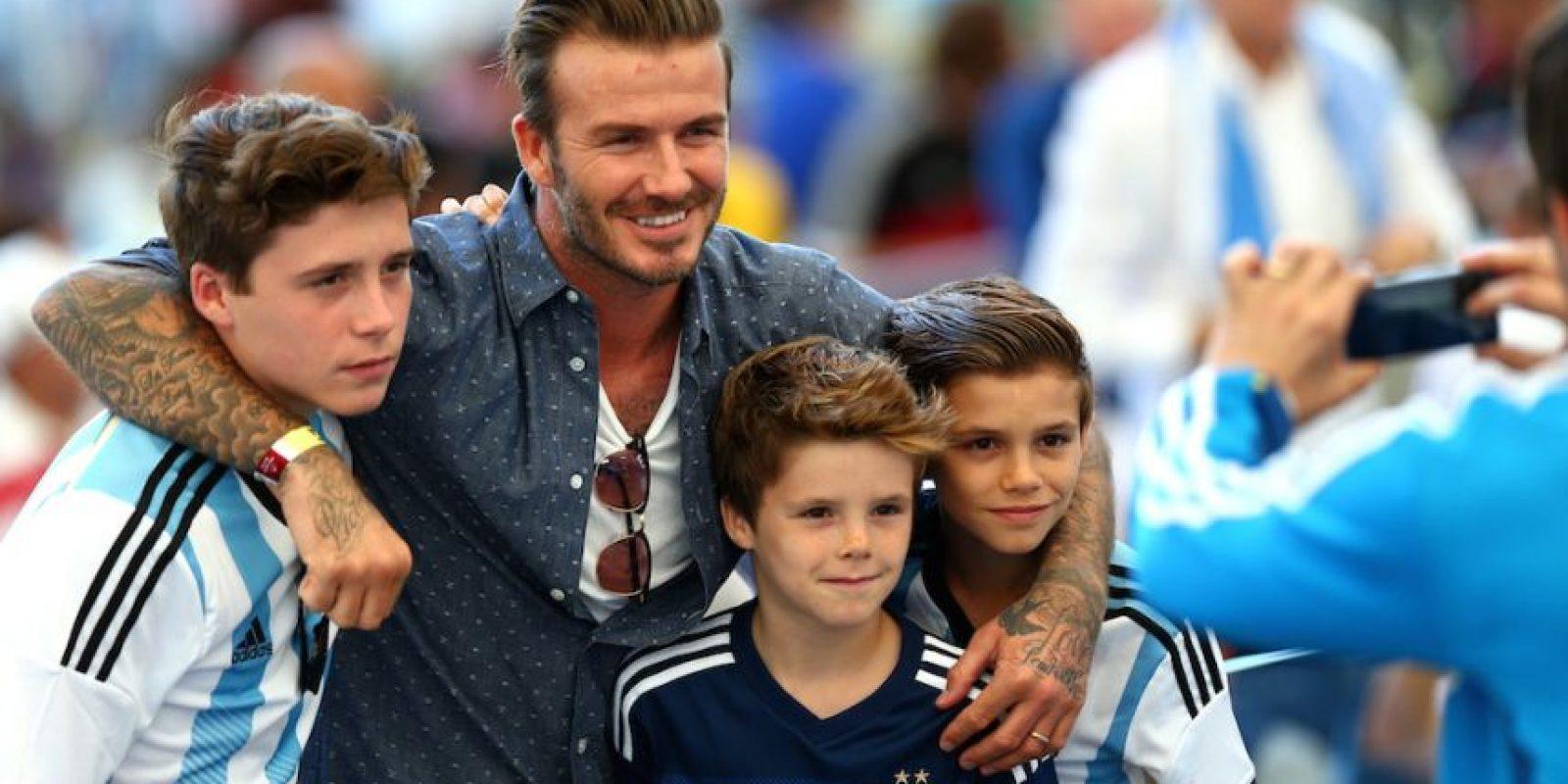 Los hombres de la familia Beckham. Foto:Getty Images