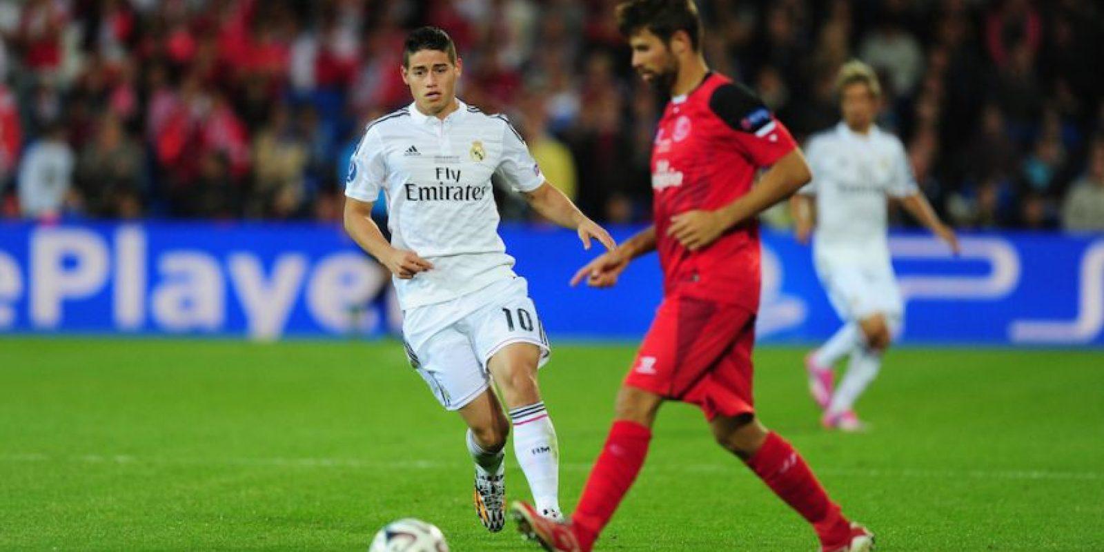 James Rodríguez contra el Sevilla en la Supercopa de la UEFA. Foto:Getty Images