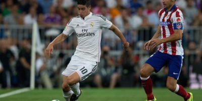 James ante el Atlético de Madrid en la Supercopa de España. Foto:Getty Images