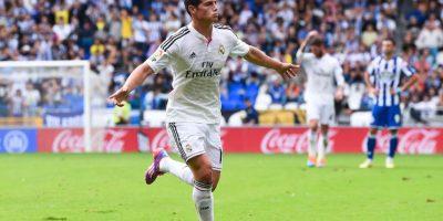 Rodríguez enfrentando al Deportivo La Coruña. Foto:Getty Images