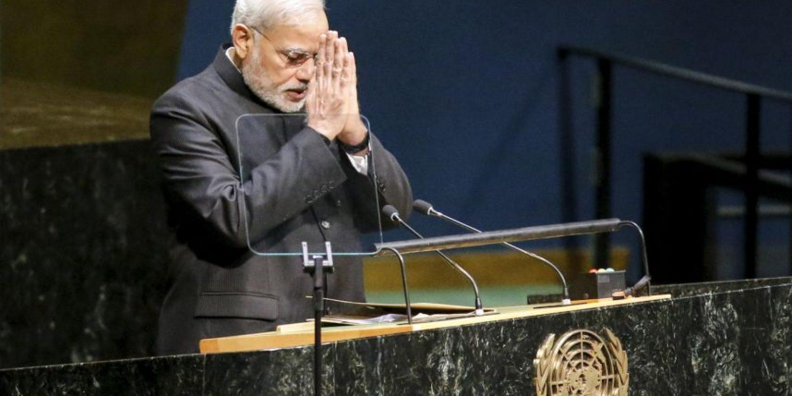 Durante su discurso en las Naciones Unidas. Foto:Getty Images