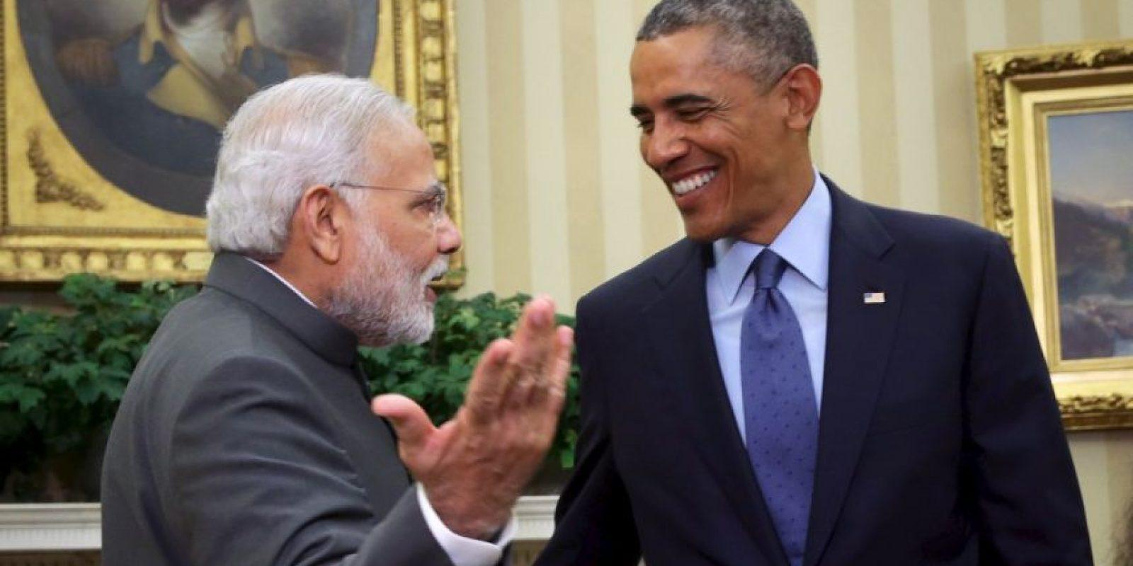 Modi visitó Estados Unidos. Aquí con el presidente Barack Obama. Foto:Getty Images