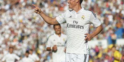 Rodríguez celebra su anotación ante el Levante. Foto:Getty Images