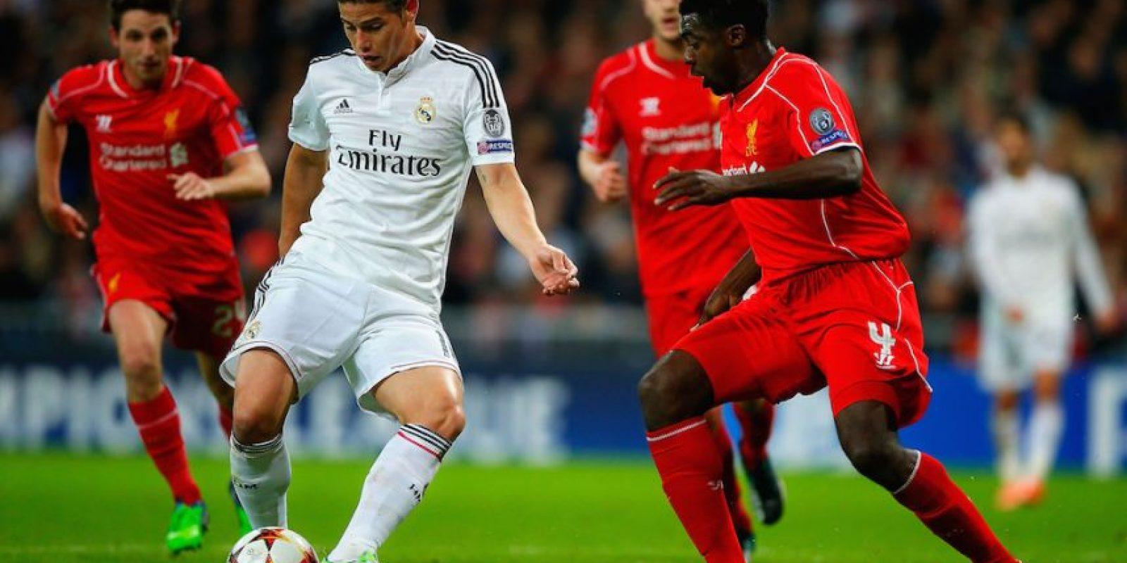 James Rodríguez en el partido ante el Liverpool. Foto:Getty Images