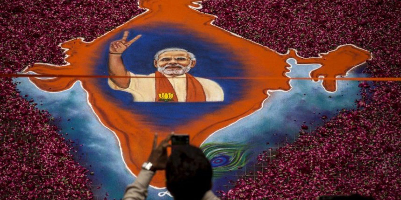 Modi obtuvo una victoria aplastante en las elecciones de India. Foto:Getty Images
