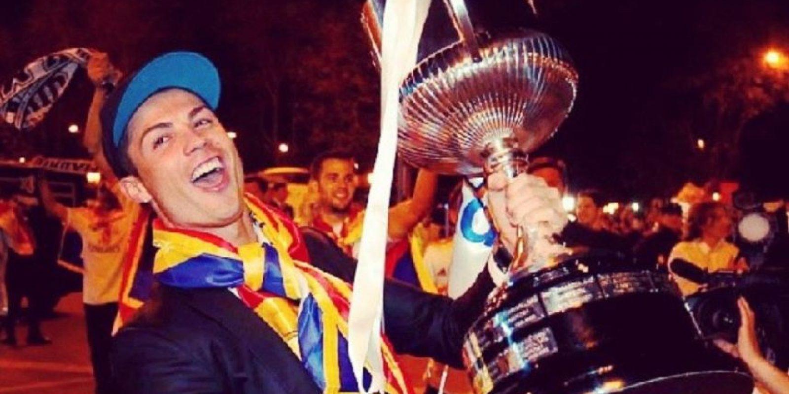 Copa del Rey con el Real Madrid ante el Atlético de Madrid. Foto:¡nstagram.com/cristiano