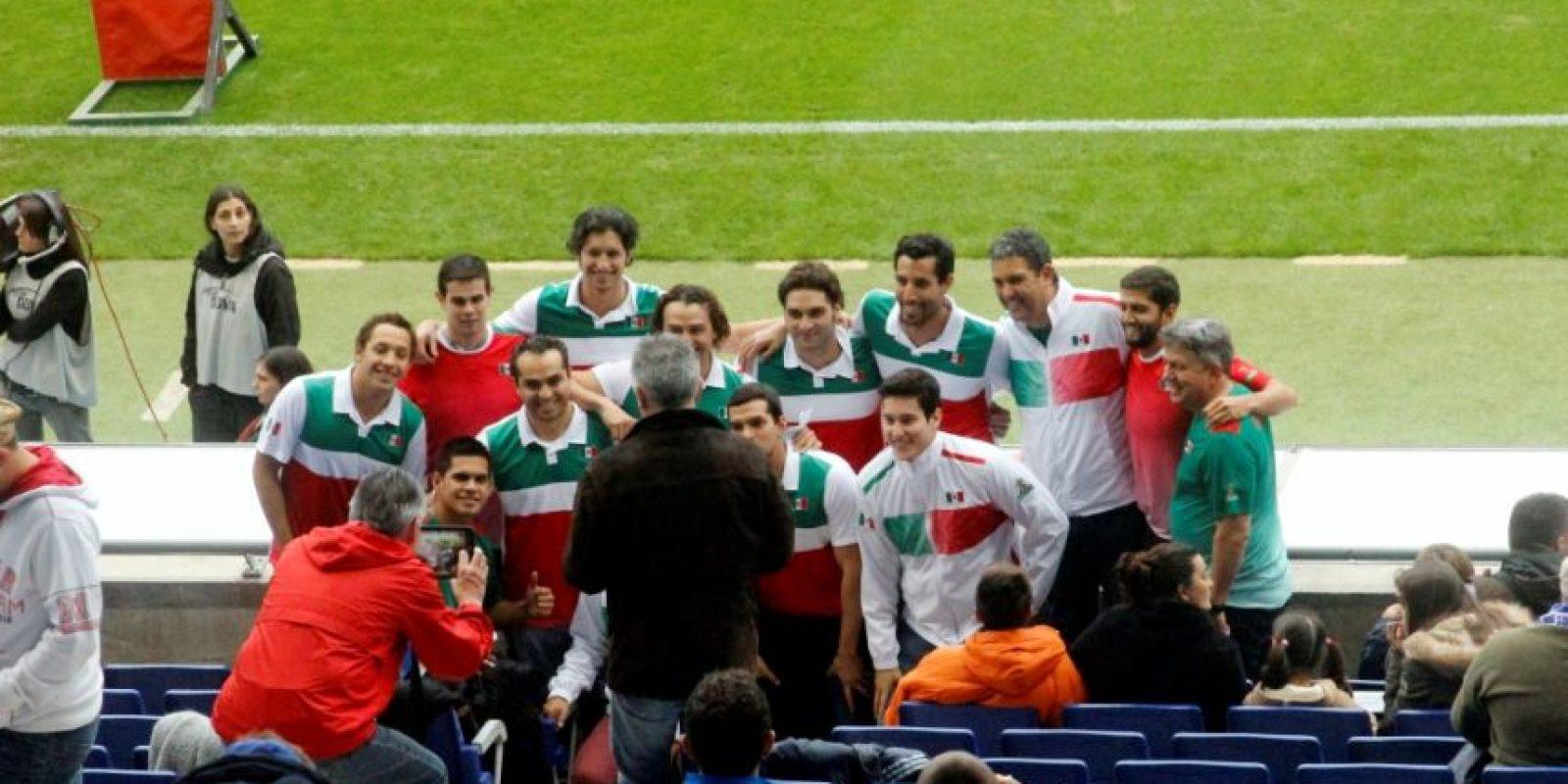 El equipo mexicano de Waterpolo en el Espanyo vs. Villareal. Foto:Ramón Mompió