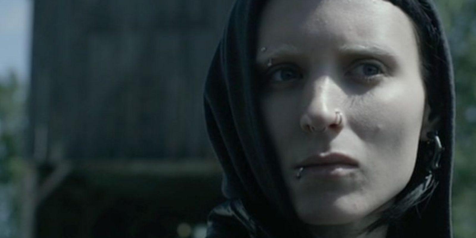 """Representó a la icónica Lisbeth Salander, protagonista de la saga de novelas """"Millennium"""" Foto:Columbia Pictures"""