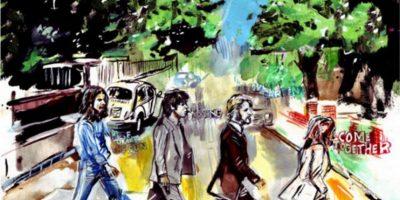 Abbey Road con un toque artístico Foto:Facebook/The Beatles