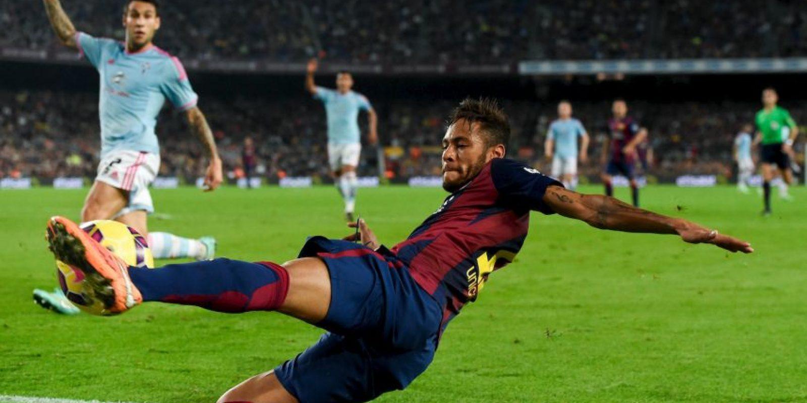 El ex jugador del Santos suma 10 dianas en la Liga de España Foto:Getty