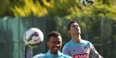 La estrella del Real Madrid, durante la práctica. Foto:AFP