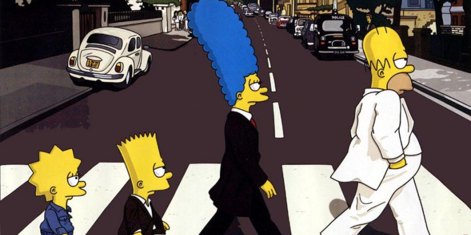 "Abbey Road con ""Los Simpson"" Foto:Twitter"