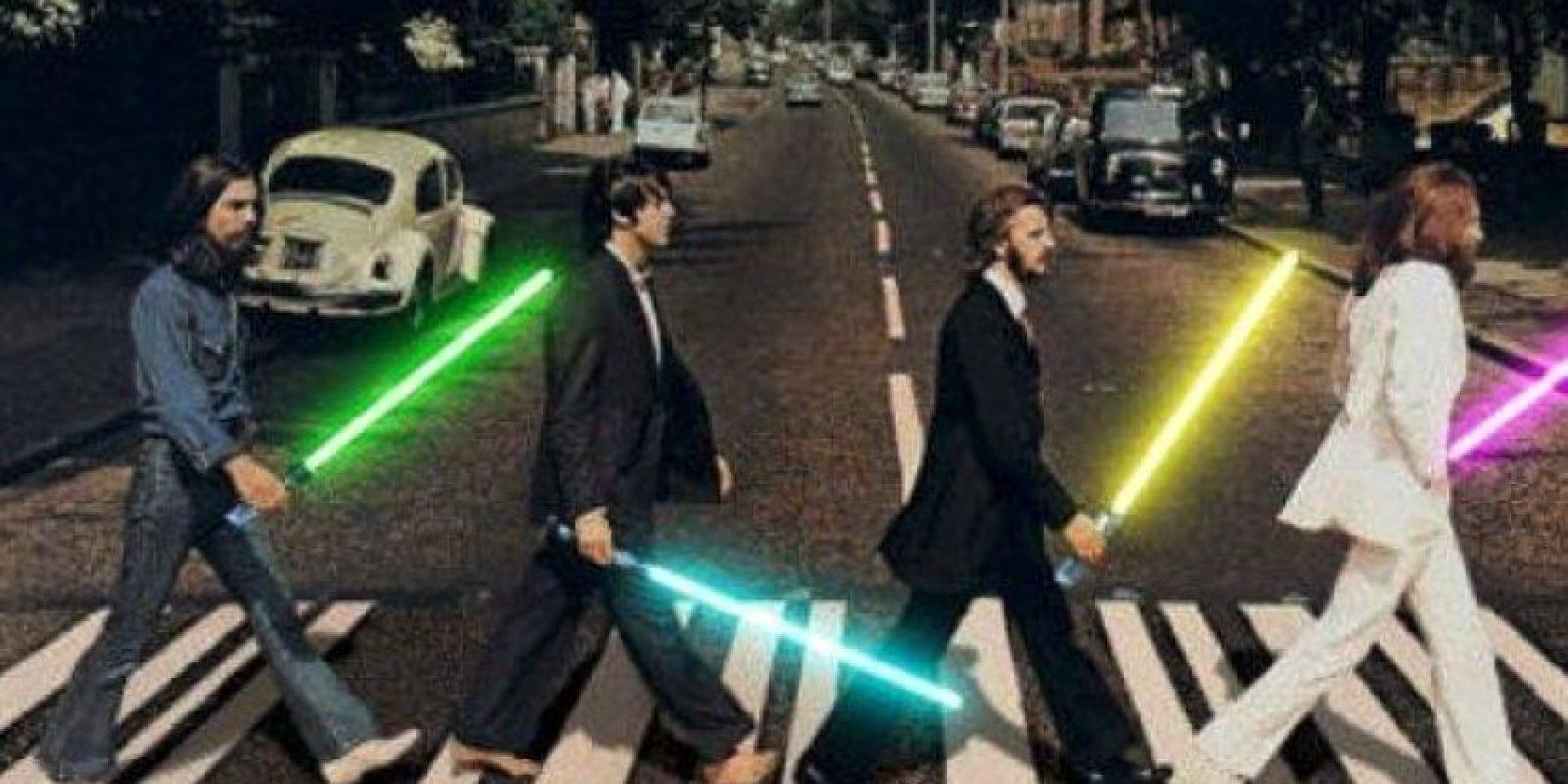 """The Beatles al estilo de """"Star Wars"""" Foto:Twitter"""