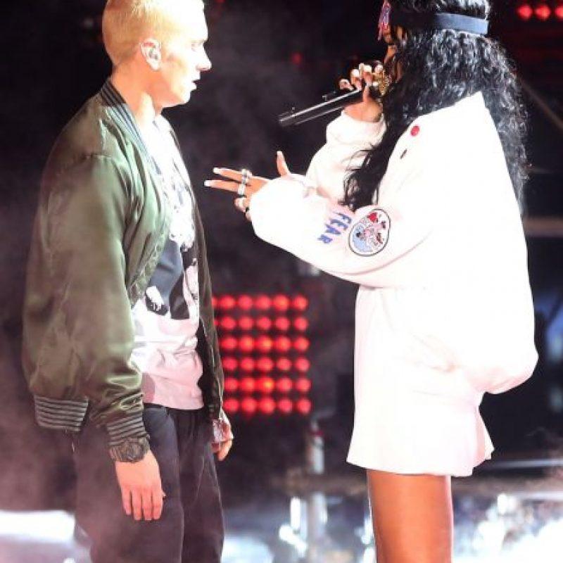 Eminem tiene un historial de amenazas en sus canciones Foto:Getty