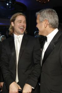 George Clooney y Brad Pitt Foto:Getty