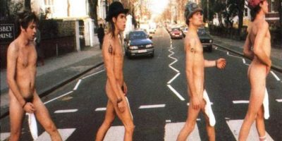 Abbey Road con los Red Hot Chili Peppers Foto:Redhotchilipeppers.com
